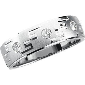 7mm Men's Diamond Tapered Ring