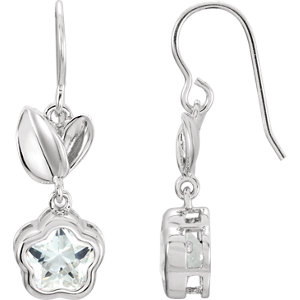 Sterling Silver White Cubic Zirconia BFlower™ Earrings with Box