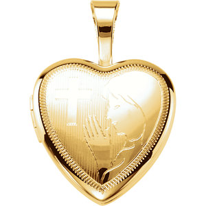Gold Plated & Sterling Silver Prayer Locket