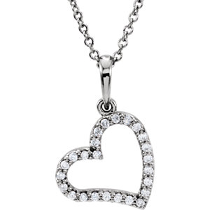 Heart Pendant Mounting or Diamond Necklace