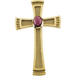 Genuine Rhodolite Garnet Cabochon Cross