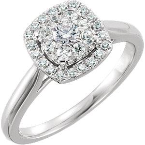 Diamond Halo-Styled Engagement Ring