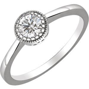 14kt White White Sapphire<br>
