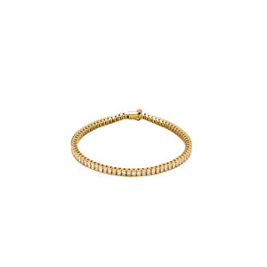 "14K Yellow 4 CTW Diamond Line 7.25"" Bracelet"
