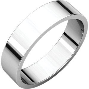 Platinum 5mm Flat Band