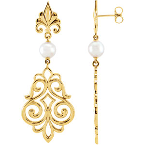 Akoya Aultured Pearl Earrings or Mounting