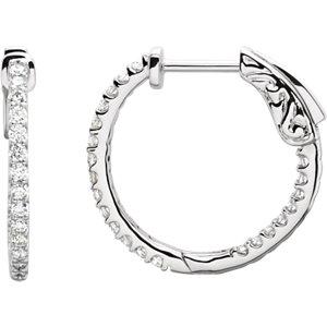Inside/Outside Hoop Earrings