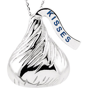 14kt White HERSHEYS KISSES Flat Back 1