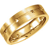 Ladies or Gents Wedding Band Mounting
