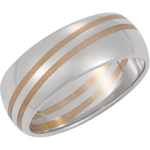 Two-Tone 8mm Design Band
