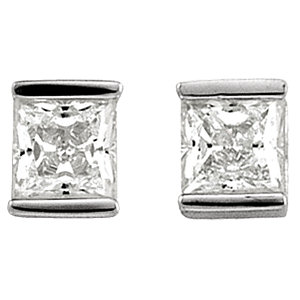Cubic Zirconia Bar Earrings