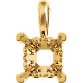 Princess/Square 4-Prong Fleur-de-lis Pendant Mounting