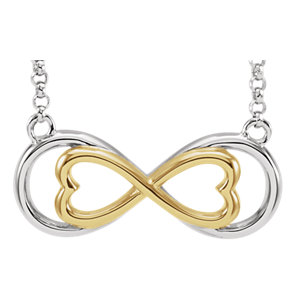 Gold Plated Silver Love For Infinity Horizontal Necklace