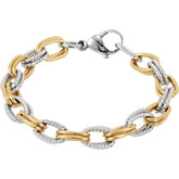 Amalfi™ Gold Immersion Plated Stainless Steel Bracelet