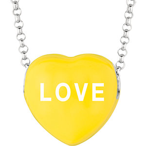 "Sweethearts® 13x14mm Yellow ""Love"" Heart on 16"" Necklace"