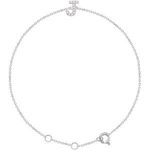 "14K White .05 CTW Diamond Initial ""J"" 6-7"" Bracelet"