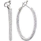 2 ct tw Diamond Inside/Outside Hoop Earrings