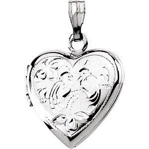 Heart Locket with Love Birds