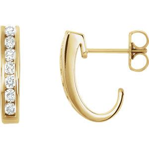 14kt Yellow A/  ATW Diamond Earrings