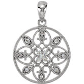 Diamond Filigree Pendant or Necklace