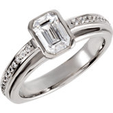 Engagement Ring or Matching Band Mounting