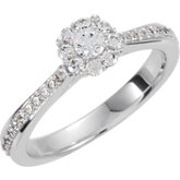 9 Stone Cluster Engagement Ring or Band
