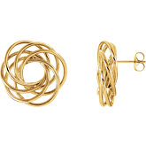 14kt Gold-Clad Sterling Silver Knot Earrings