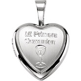 Primera Communion Heart Locket