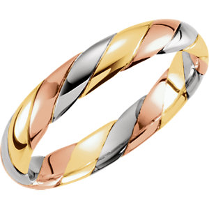 Hand-Woven 4mm Tri-Color Band