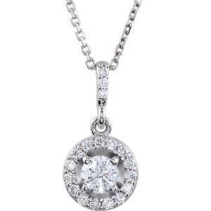 Diamond Halo-Styled Necklace or Mounting