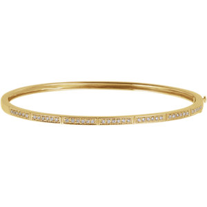 14K Yellow 1/3 CTW Diamond Bangle Bracelet