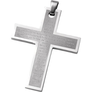 Joyas Alternativas™ Stainless Steel Cross Pendant with Padre Neustro Prayer