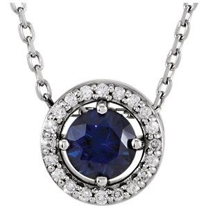 Gemstone & Diamond Halo-Styled Necklace or Pendant Mounting