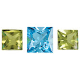 Genuine Swiss Blue Topaz & Peridot Layout