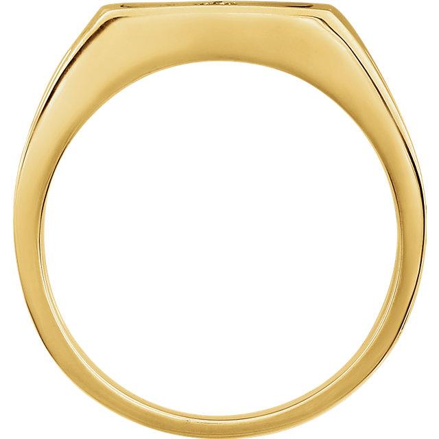 14K Yellow Men-s Onyx & .004 CTW Diamond Ring