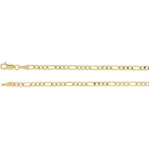 Solid Figaro Chain 3mm