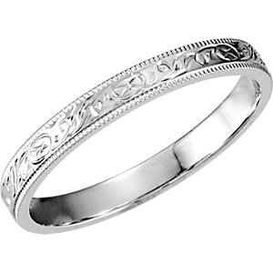 Hand-Engraved 3mm Comfort-Fit Band