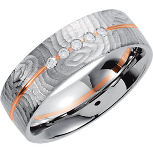 Two-Tone 6.5mm Designer Band