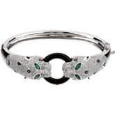 Emerald, Onyx  & Diamond Bracelet