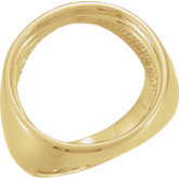 Men's Coin Ring Mounting