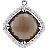 Halo-Style Dangle for Antique Square Shape