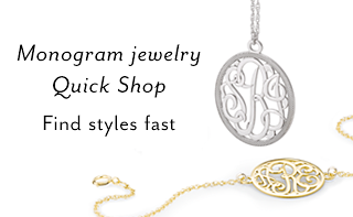 Monogram Jewelry Quick Shop