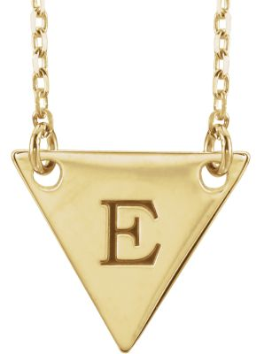 Engravable Geometric Necklace