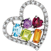 Multi-Gemstone & Diamond Pendant