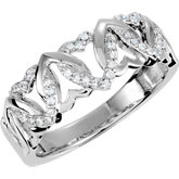1/8 CTW Diamond Heart Design Ring