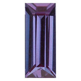 Straight Baguette Lab Created Alexandrite