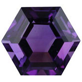 Hexagon Genuine Amethyst