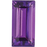 Straight Baguette Genuine Amethyst