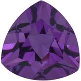 Genuine Amethyst - Trillion Faceted; AA Quality