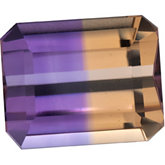 Emerald/Octagon Genuine Ametrine